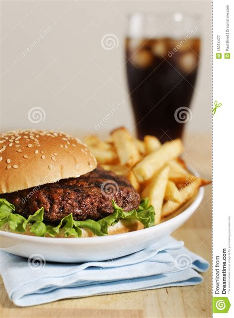 hamburger dinner hamburger dinner royalty free stock photography image 16074477