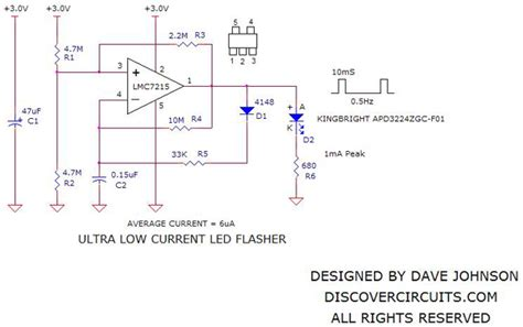 Ultra Low Power Led Flasher Light Circuit