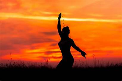 Yoga Sunset Wallpapers Dancing Background 4k Alphacoders
