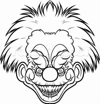 Scary Killer Easy Draw Clown Drawing Clowns