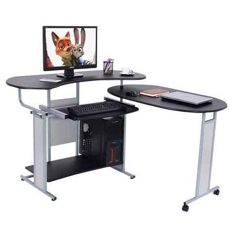 l shaped table desk lh expandable l shaped computer desk pc table corner
