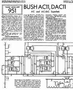 Bush Ac11 Dac11 Receiver 1949 Sm Service Manual Download  Schematics  Eeprom  Repair Info For