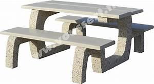 Table D Extérieur : table d 39 ext rieur en b ton praprika lav auvergne ~ Teatrodelosmanantiales.com Idées de Décoration