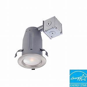 Lithonia lighting in white recessed gimbal led
