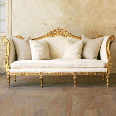 classic settees gold sofa on