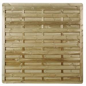 Panneau De Cloture En Bois : panneau en bois droit occultant l 180 x h 180 cm naturel ~ Premium-room.com Idées de Décoration