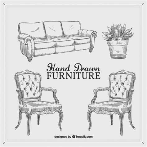 livingroom bench vintage furniture vector premium