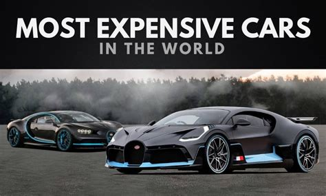 The 20 Most Expensive Cars In The World (updated 2019