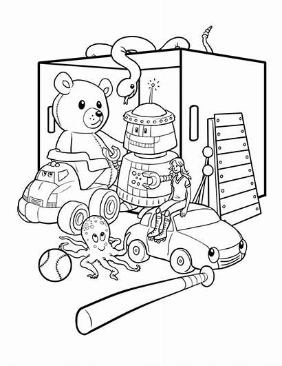 Coloring Box Toy Pages Printable Getcolorings