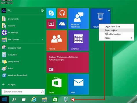 Windows 10 Papierkorb An Die Taskleiste Anheften Schiebde