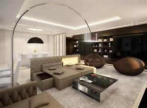 Lampadaire Salon Design : salon avec salle manger 60 id es d 39 am nagment ~ Preciouscoupons.com Idées de Décoration