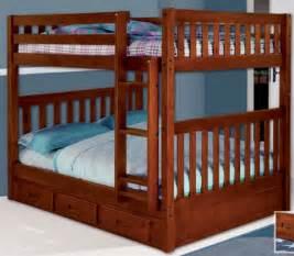 2815 mission full over full bunk bed bed frames