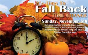 Daylight Savings Time Fall Back November 6 2016