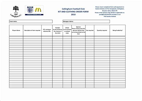 product order form template excel exceltemplates