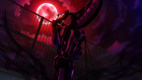 Anime Moon Wallpaper - durarara anime anime bicycle moon celty