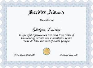 years of service award certificate templates best With years of service award certificate templates