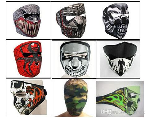9 Styles Designed Skull Motorcycle Full Face Mask Cool