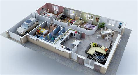 plan maison 3d 3 chambres immobilier pour tous immobilier pour tous