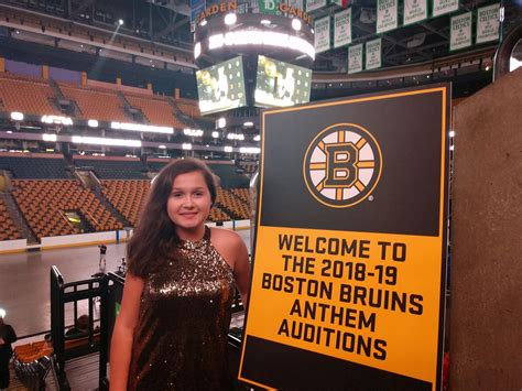 Beverly's Nicole Talbot Auditions As Bruins Anthem Singer