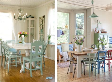 different colored kitchen chairs images