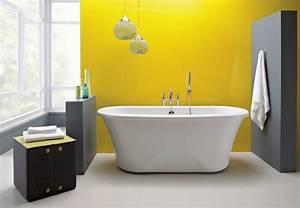 Peinture Pour Faience Salle De Bain : salle de bains jaunes 32 id es pour une d coration lumineuse ~ Dailycaller-alerts.com Idées de Décoration