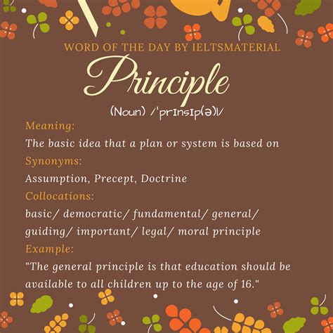 Principle - Word Of The Day For IELTS Speaking And Writing