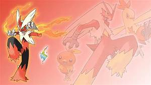 Torchic, Combusken, Blaziken, and Mega Wallpaper by Glench ...
