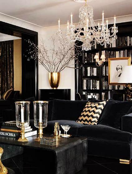black gold  white interior design decor ideas