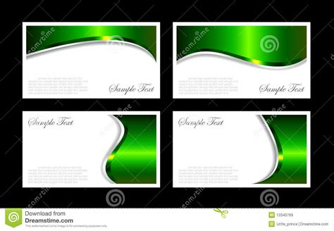 business cards templates stock vector illustration