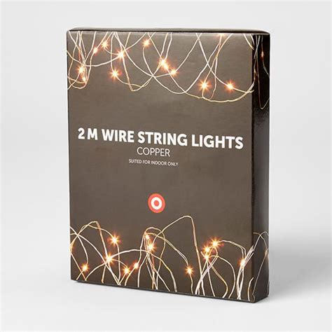 2m copper wire string lights target australia