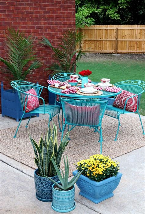 best 25 painted patio furniture ideas on