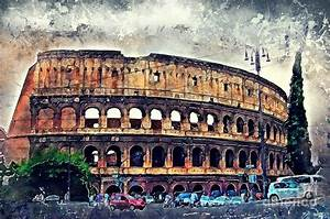 Colosseum Rome Painting by Justyna JBJart