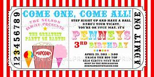 carnival ticket printable invite dimple prints shop With carnival tickets template free printable