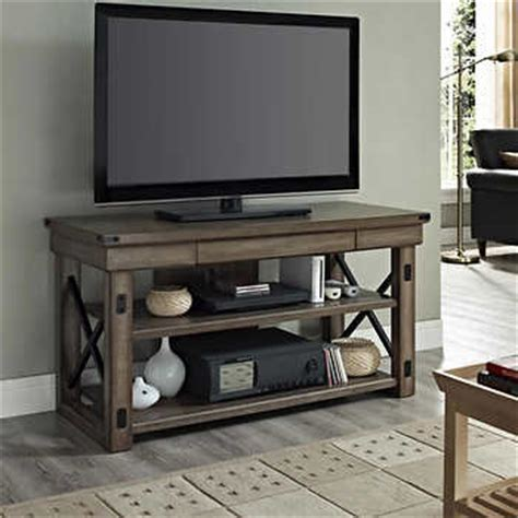 wildwood rustic grey   television stand