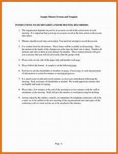 9 Meeting Minutes Format - Sampletemplatess