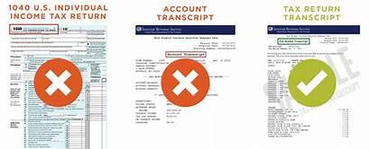 Transcript Tax Irs Income Return Verification Aid