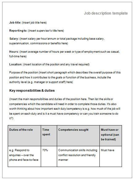 description template word description templates 10 printable pdf word formats