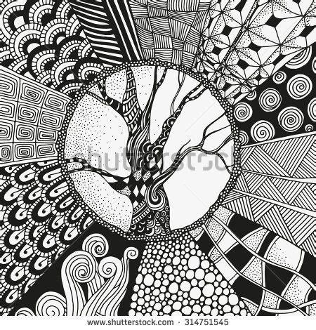 zentangle boom - Google zoeken | Mandala art lesson ...