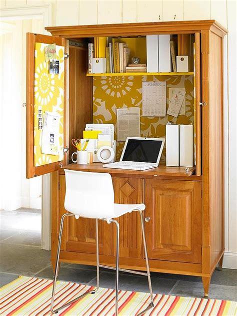 bureau dans une armoire gain de place créez votre bureau dans une armoire