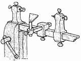 Lathe Drawing Wood Plans Chisel Lath Clipart Clockmaker Turning Drawings Getdrawings Clipground sketch template