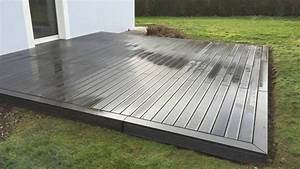 pose d39une terrasse en bois composite youtube With montage terrasse bois composite