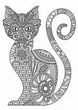Coloring Pages Cats Cat Cool Patterns Children Printable Animals Popular Justcolor sketch template
