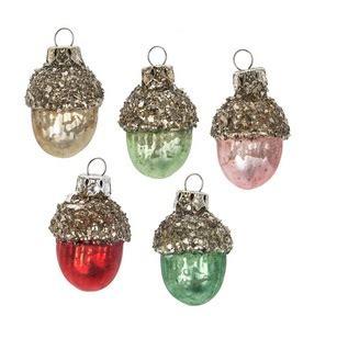 christmas ornament quot miniature acorn ornament set quot set of 6