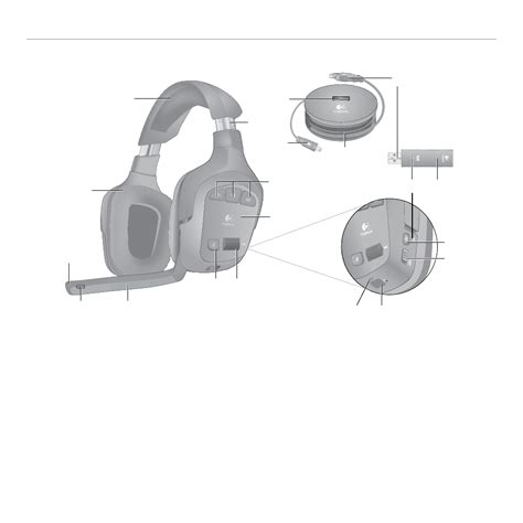 logitech gaming headset  users manual page