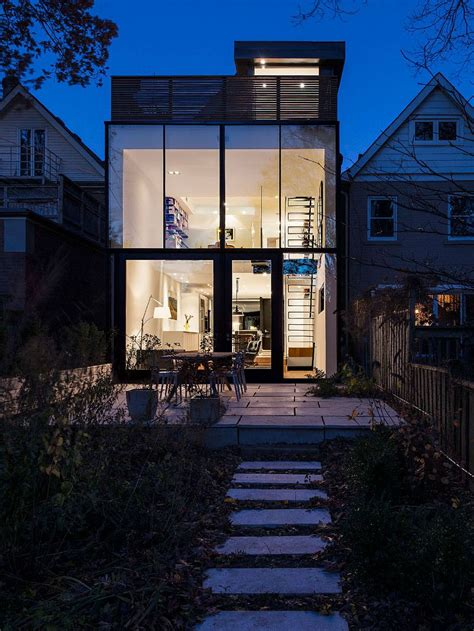 early  toronto home   glassy modern renovation