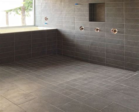 Fall In Shower Floor by Curbless Shower Design Build