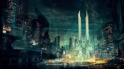 4k Future Futuristic Sci Fi Cyberpunk Landscape