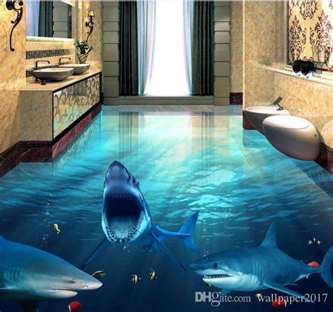 fierce shark underwater world  bathroom living room