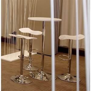 Table D Appoint Haute : table haute d 39 appoint baleare en bois et m tal chrom ~ Nature-et-papiers.com Idées de Décoration
