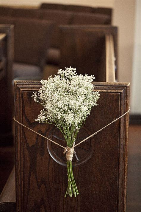 decorate church for wedding wedding pew bows